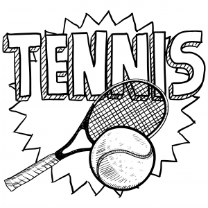 Simple Sports Drawings Sports Coloring Pages Sports Drawings Tennis Drawing