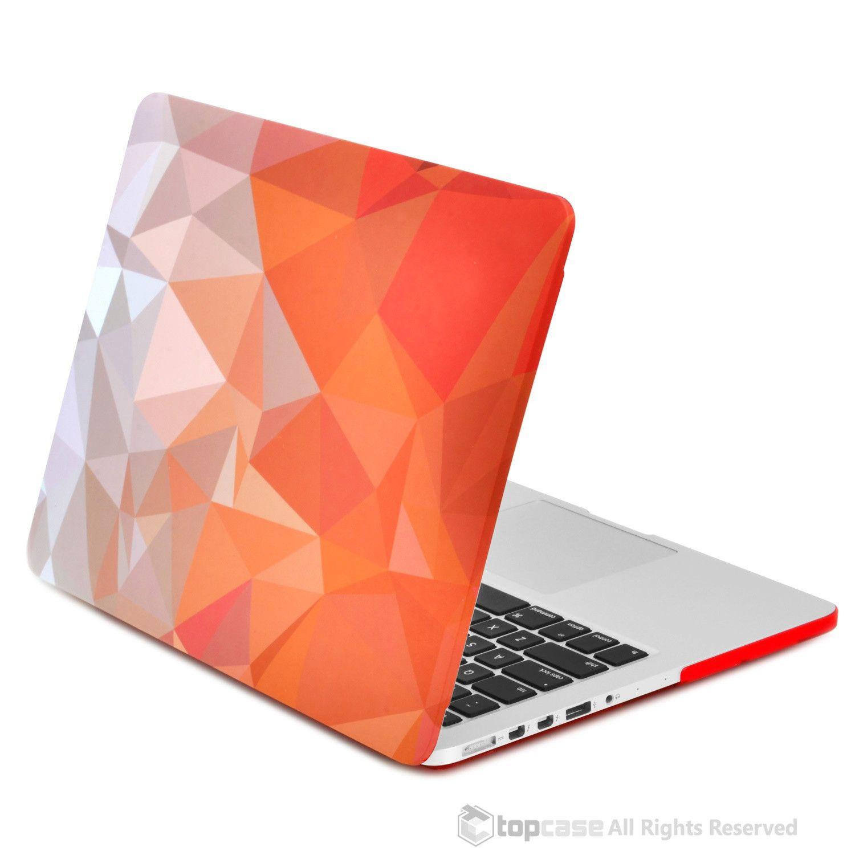 Orange Geometric Abstract Art Pattern Rubberized Hard Case