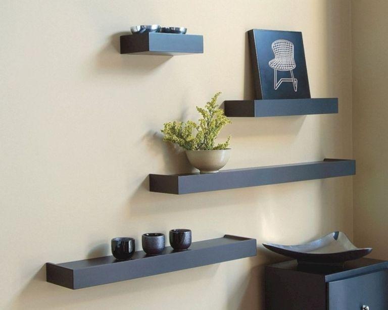 Creative Diy Wall Shelf Ikea Wall Shelves Black Wall Shelves Floating Shelves