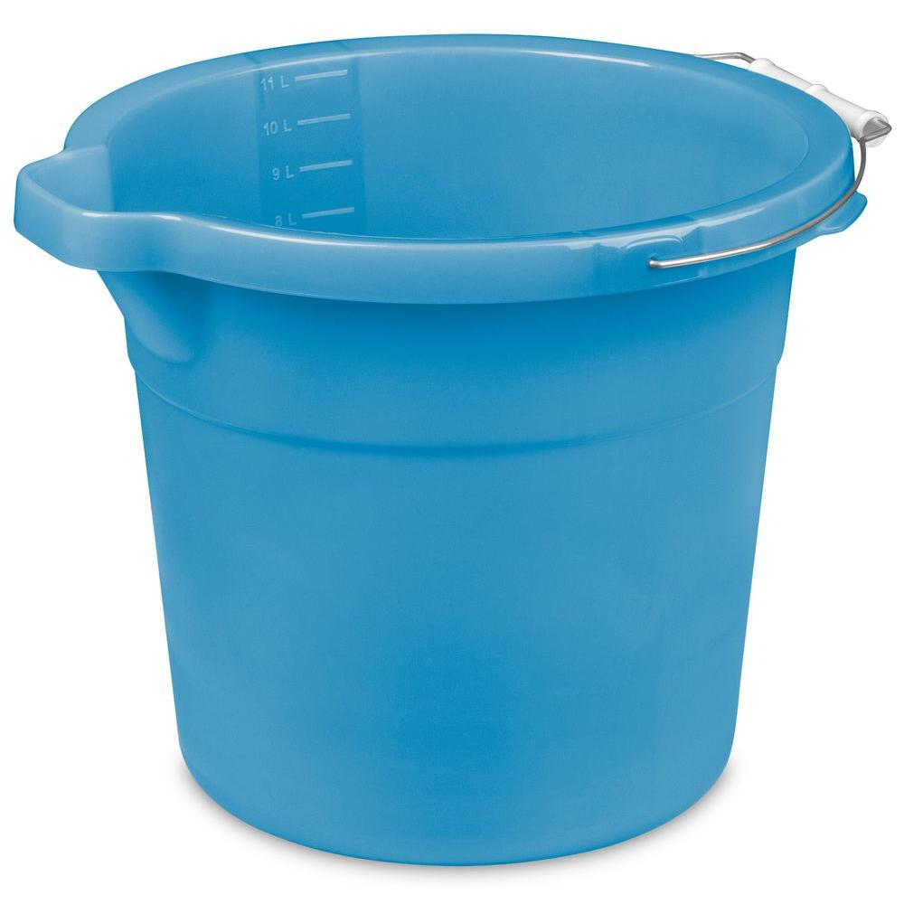 12 Qt Spout Pail 11234312 The Home Depot 1 97 Plastic Pail Pail Collapsible Bucket