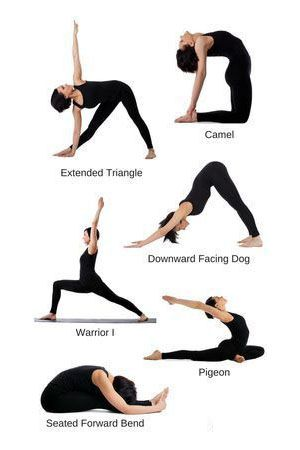 In This Image Various Yoga Poses Are Shown And All Of Them Are Very Much Beneficiary In Terms Of Beginner Yoga Workout Workout For Beginners Yoga For Beginners