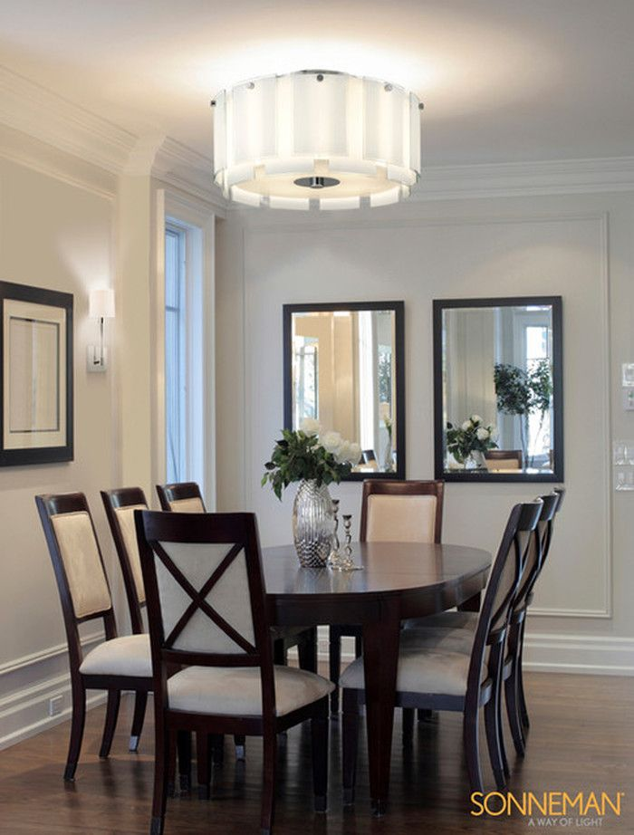 Flush Mount Dining Room Light Fixtures Vintage Table Design To Semi 14853 On