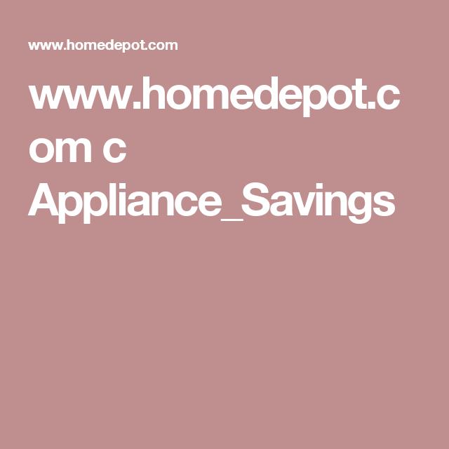 Www Homedepot Com C Appliance Savings Home Depot Bathroom Holiday Diy Diy Holiday