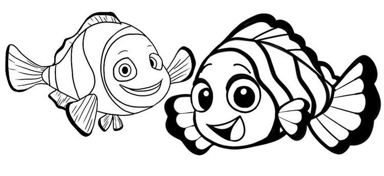 Clownfish Cartoon Finding Nemo Coloring Page Fish Coloring Page Nemo Coloring Pages Monster Coloring Pages