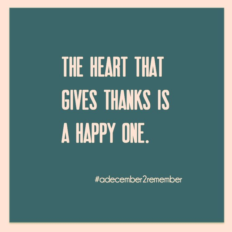 A Grateful November leads to a December to Remember.  Follow @adecember2remember on instagram for a daily quote to help you prepare!  #adecembertoremember