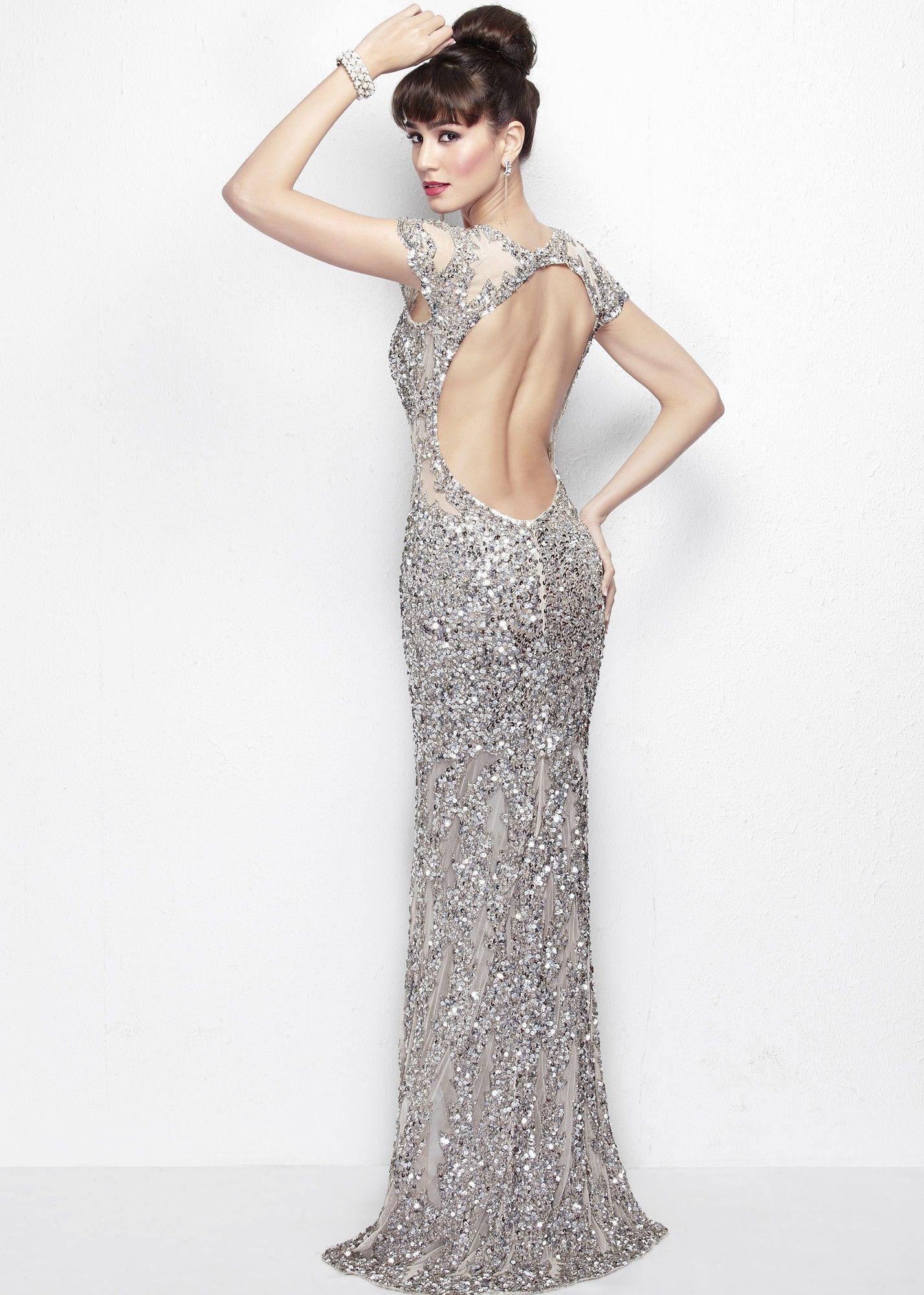 Primavera 9941 Floral Beaded Gown Prom Dresses Long Black Dresses Sequin Cocktail Dress [ 2000 x 1428 Pixel ]