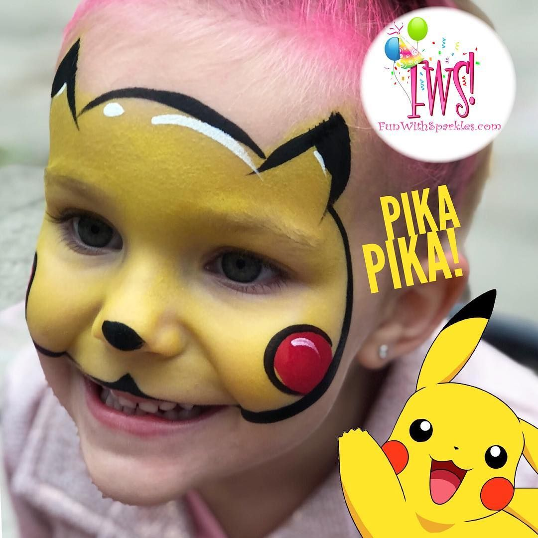 23 Likes 0 Comments Corinne Sparkles Smith Funwithsparkles On Instagram It S Pikachu Pikachu Face Painting Face Painting Halloween Kids Face Paint