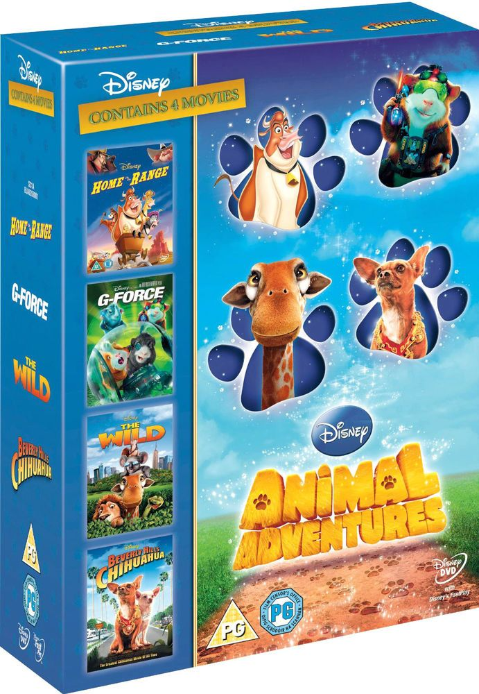 disney animal adventures 4 walt disney movies new dvd