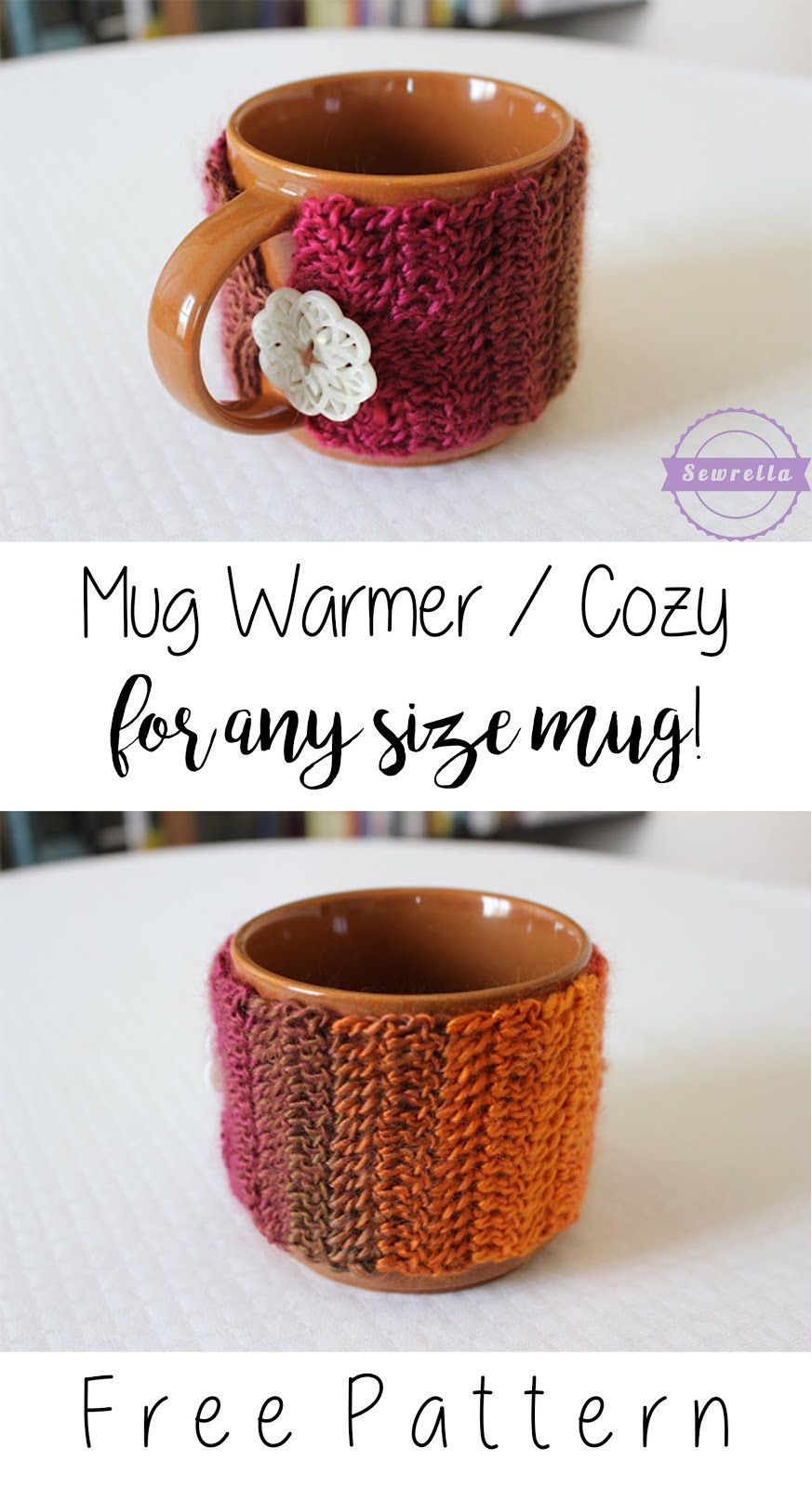 Crochet Mug Warmer/Cozy for ANY MUG | Patrones, Recetas y Cosas