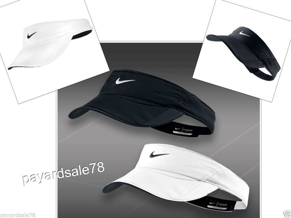Women S Nike Tennis Visor Hat Golf Visor Dri Fit Fetherlight Black Or White Nwt Nike Women Golf Visor Nike