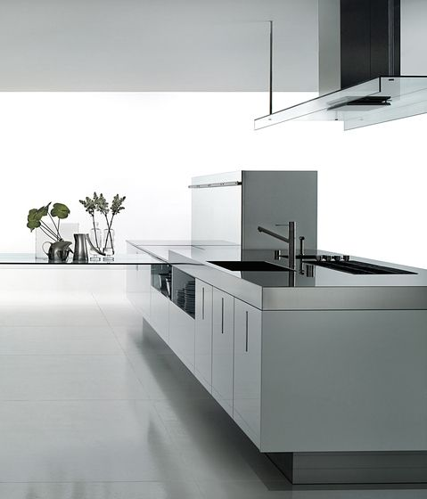 Luxury Modern Kitchen Area By Boffi, Stainless Steel Or