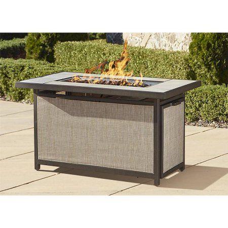 cosco outdoor serene ridge aluminum propane gas fire pit table