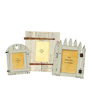 Take A Look At This Garden Gate Picture Frame Set By Primitives By