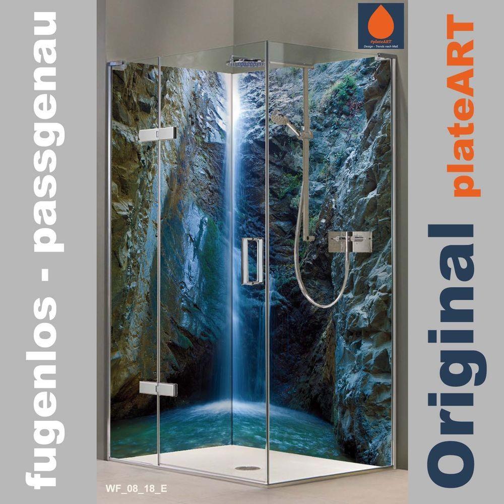 Eck Duschruckwand Ruckwand Dusche Alu Fliesenersatz Chantara Wasserfalle Ebay Duschruckwand Ruckwand Dusche