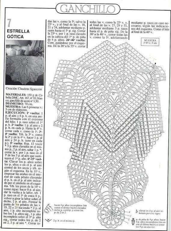 Ganchillo artístico: Fotos de patrones y diseños - Estrella gótica ...