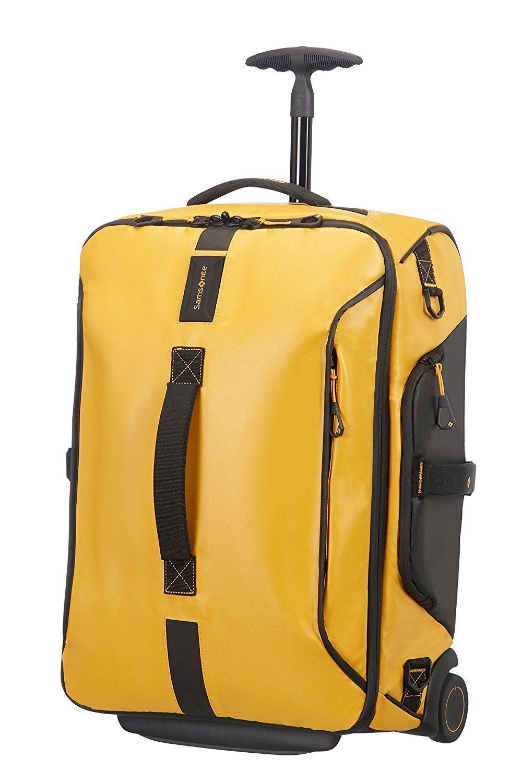 Duffle Samsonite 55cm Wheels Paradiver On Light Backpack Yellow PXOZuikT