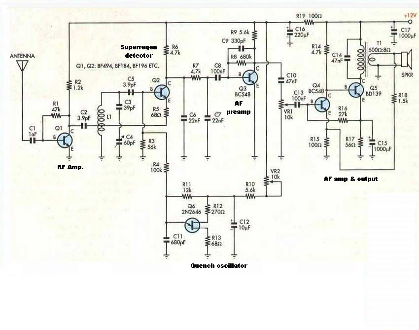 6 Transistor VHF Super Regenerative Receiver | elekrtronika