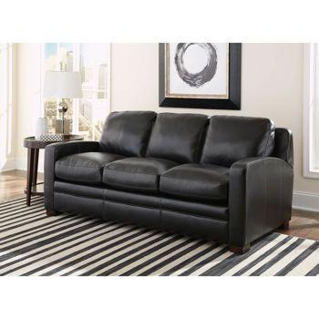 Dreamliner Top Grain Leather Queen Sleeper Sofa