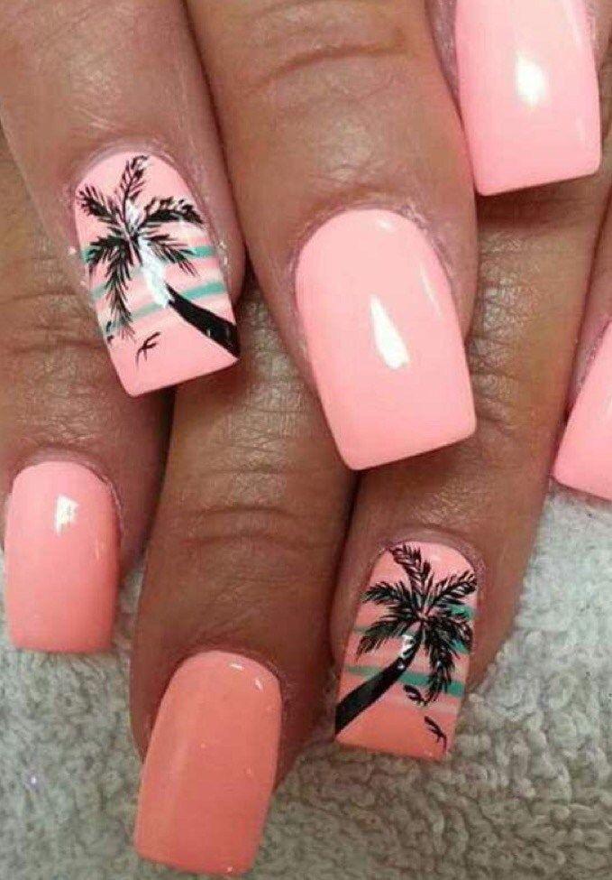 пляжный дизайн ногтей гель фото