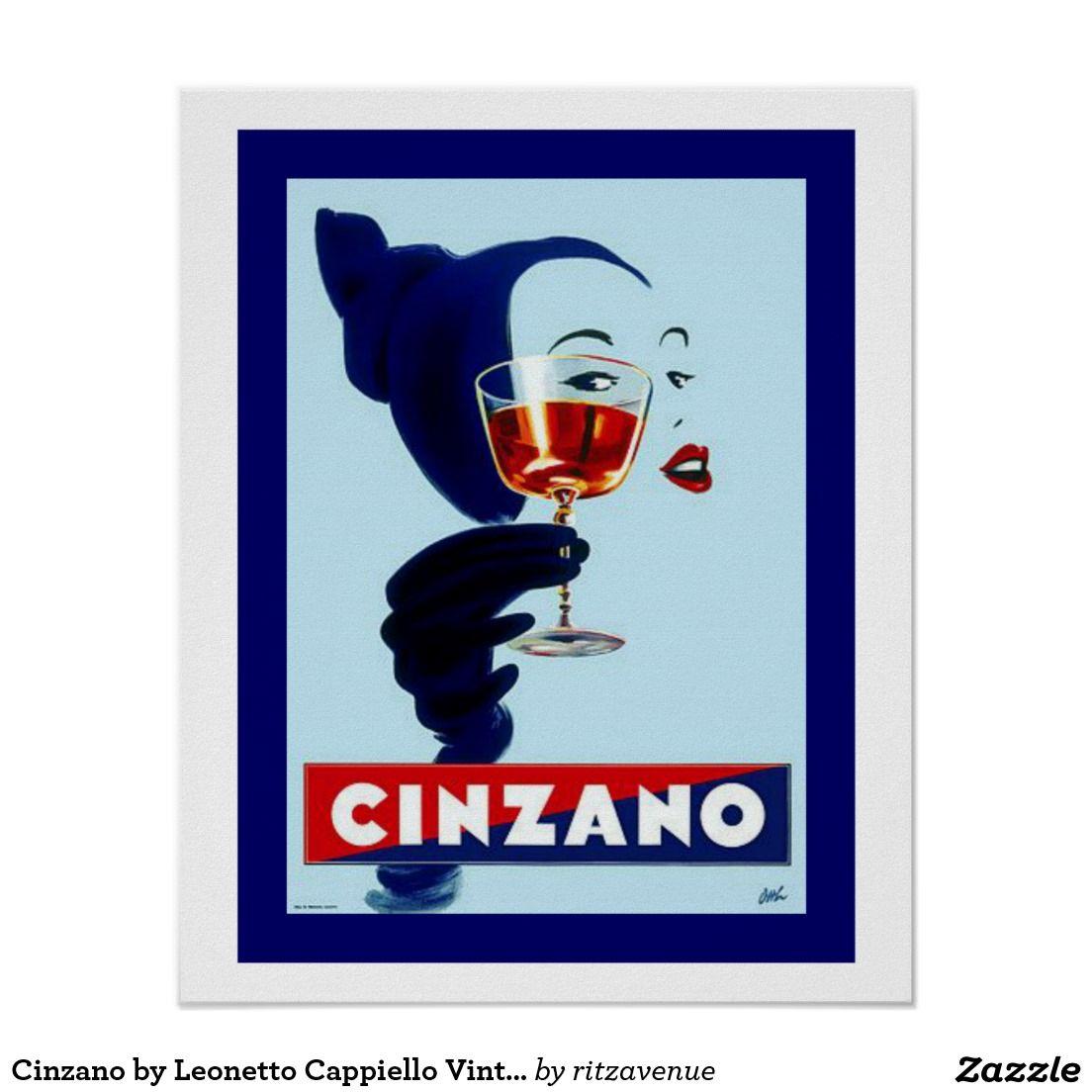 Vintage CinZano Drink/'s Advertisement Poster 3 Nostalgic Retro re-print