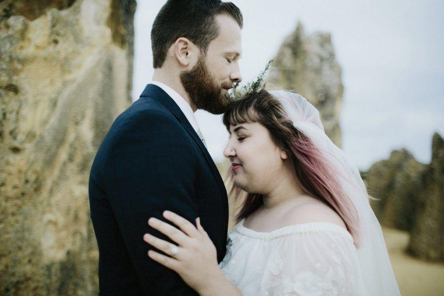 bohemian wedding at The Pinnacles in Western Australia