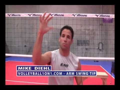 Volleyball Arm Swing Spiking and Hitting Technique - YouTube