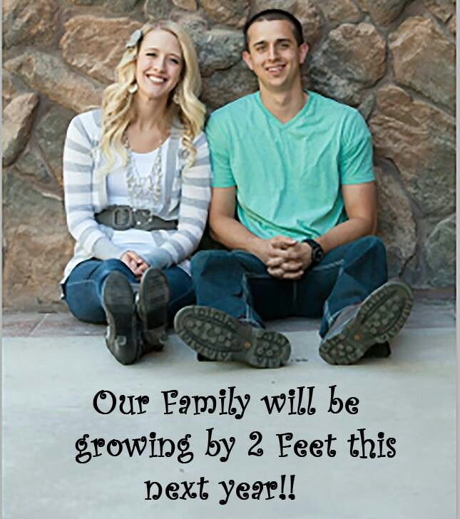 Cute way to announce baby. For future reference...don't get any ideas people