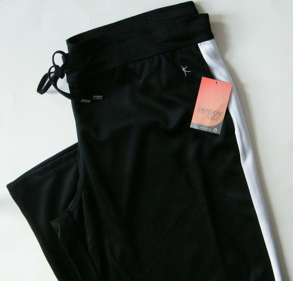 Danskin Now Mesh Track Pants Rich Black Soot Size 20 XXL