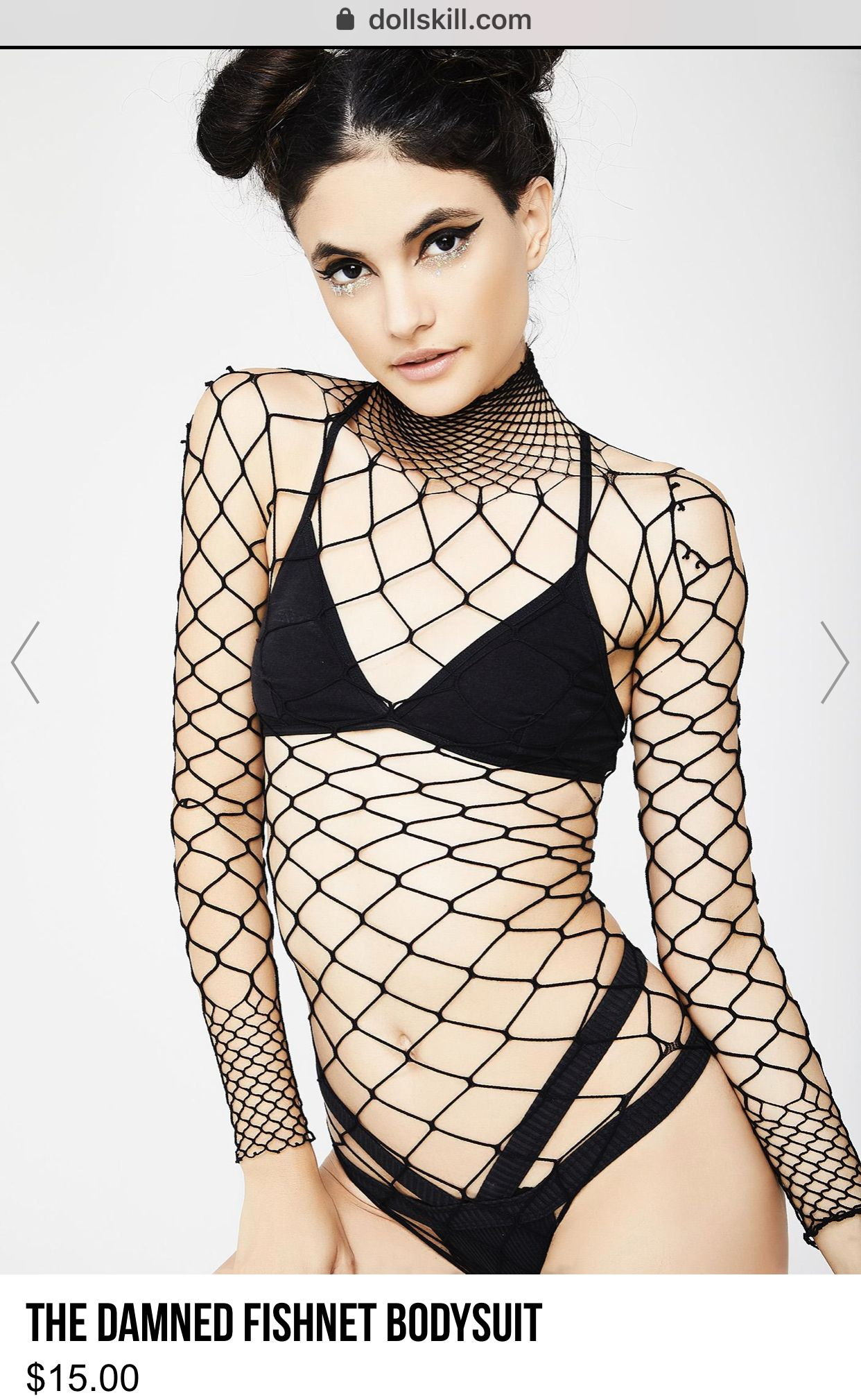 1a68074d5a40 Elegant Moments Free, fast shipping on Fishnet Studded Bodysuit at Dolls  Kill, an online boutique for punk and rock fashion.