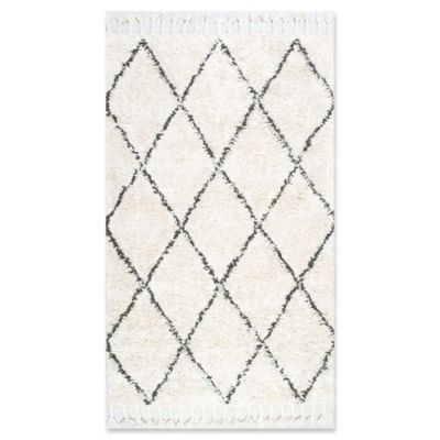 Nuloom Fez Shag 12 X 15 Area Rug In Natural Wool Area Rugs