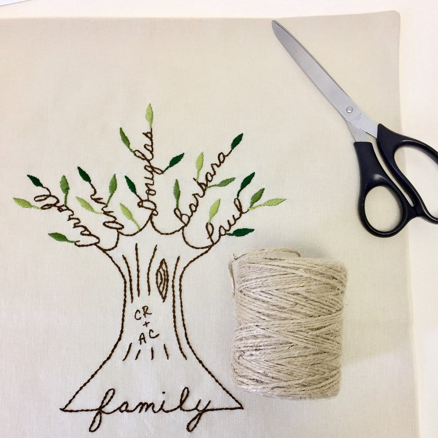 personalized pillow family tree with initials personalized wedding