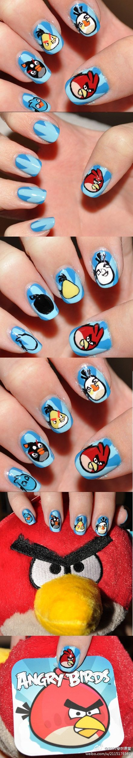 22 angry images birds nail art designs 2019