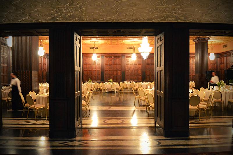 English Oak Room Tower City Cleveland Wedding Venue Wedding