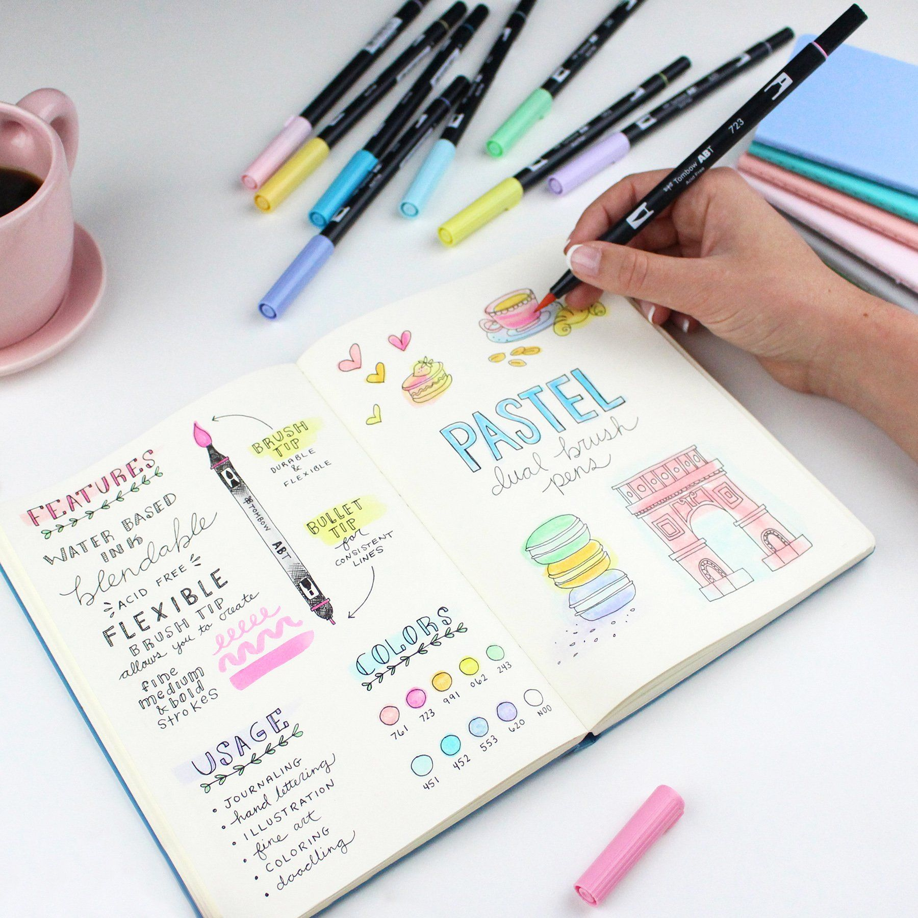 Best Watercolor Pencils To Use In Your Bullet Journal Illustrazioni