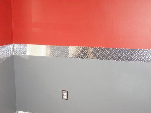 Diamond Plate Wall Border, 8 Inch X 60 Feet Vinyl with