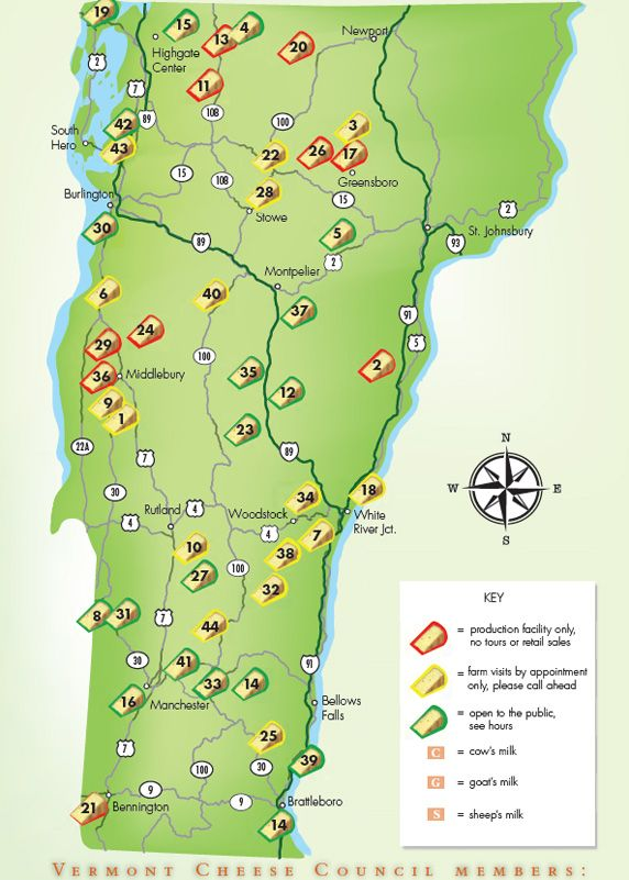 Vermont Cheese Trail Map Council Travel: Printable Map Of Vermont At Slyspyder.com