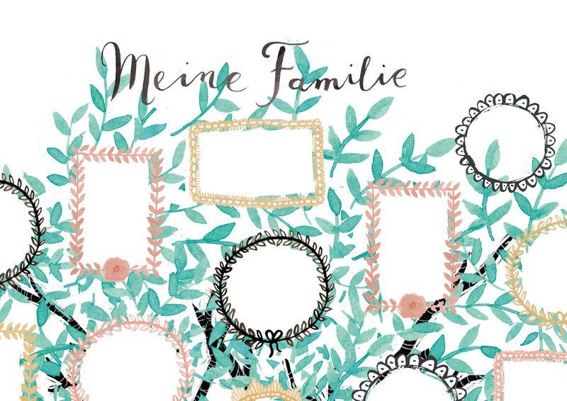 stammbaum family tree meine familie a3 von b r von pappe auf nursery. Black Bedroom Furniture Sets. Home Design Ideas
