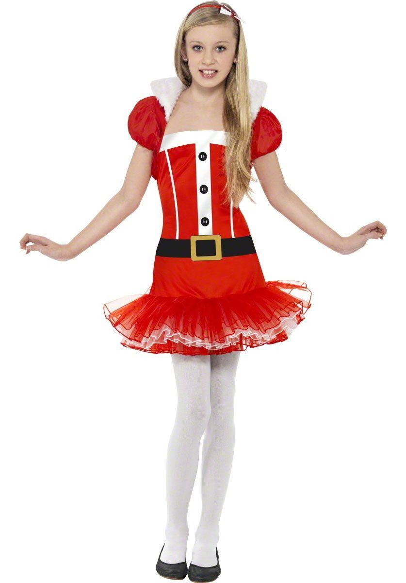 Christmas Fancy Dress Kids.Child Little Miss Santa Tutu Costume Kids Christmas Costume
