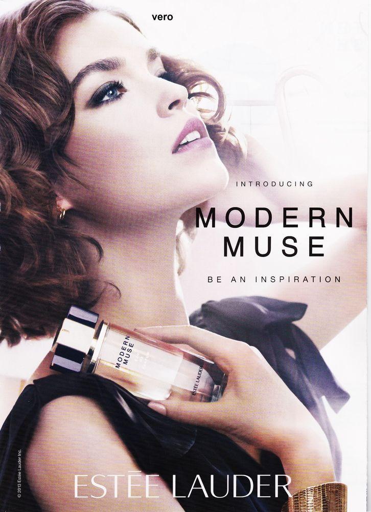 2013 magazine print ad estee lauder modern muse open