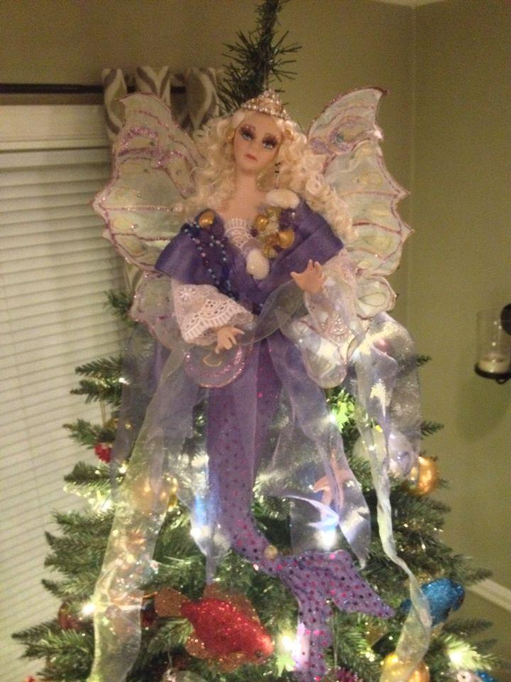 Mermaid Angel Tree Topper Beachy Christmas Coastal Christmas Christmas Crafts