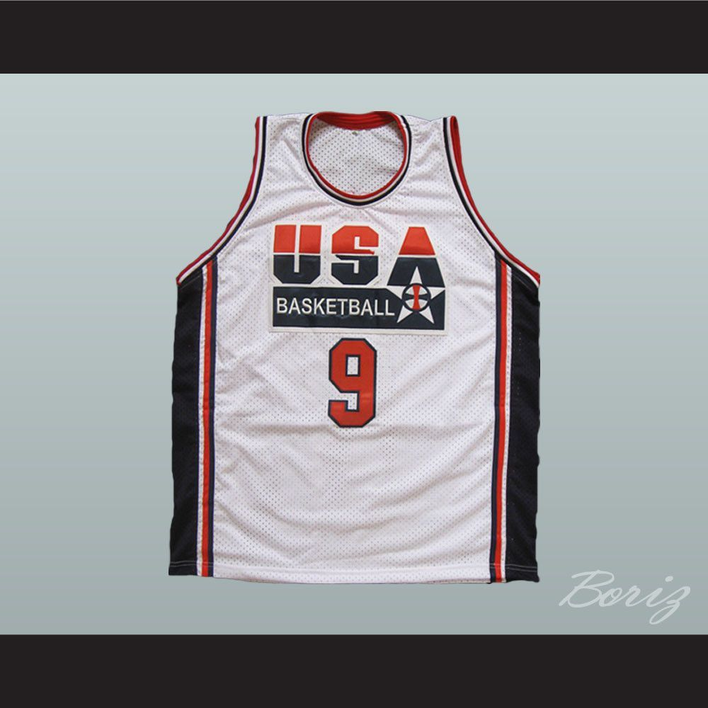 fd56a72cdedb Michael Jordan Dream Team 1992 Retro Basketball Jersey USA 9 All Sizes.  SHIPPING TIME IS ABOUT 3-5 weeksI HAVE ALL SIZES and can change Name and   (Width of ...