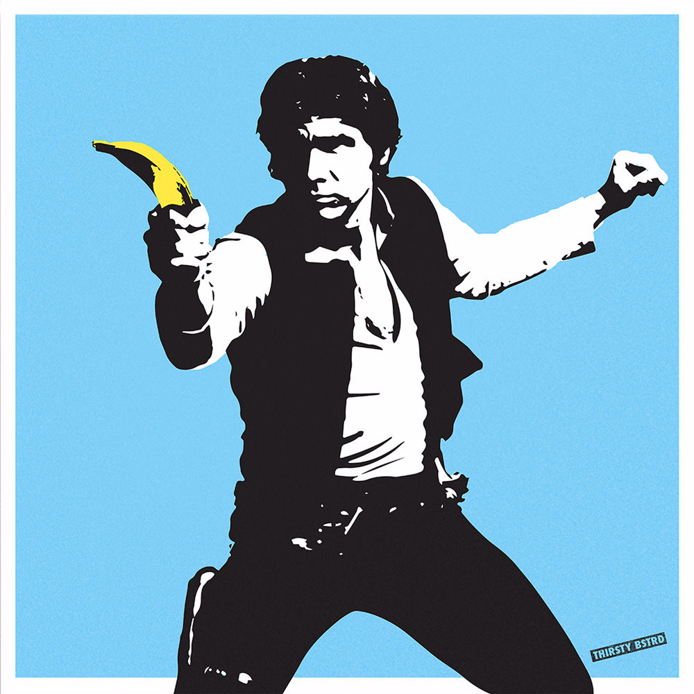 Thirsty Bstrd Han Solo Banana Gun In 2018 As Is Pinterest