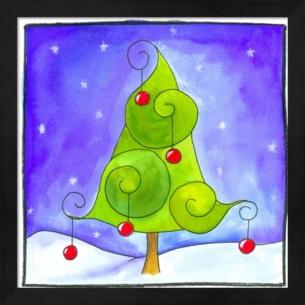 Christmas Tree By Esteban Studio Framed Art Multi Christmas Canvas Christmas Tree Painting Christmas Canvas Art