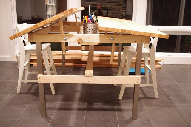 Worthy Mentions Of 2012 Ikea Hackers In 2020 Kids Drawing Table Drafting Table Art Desk Ikea