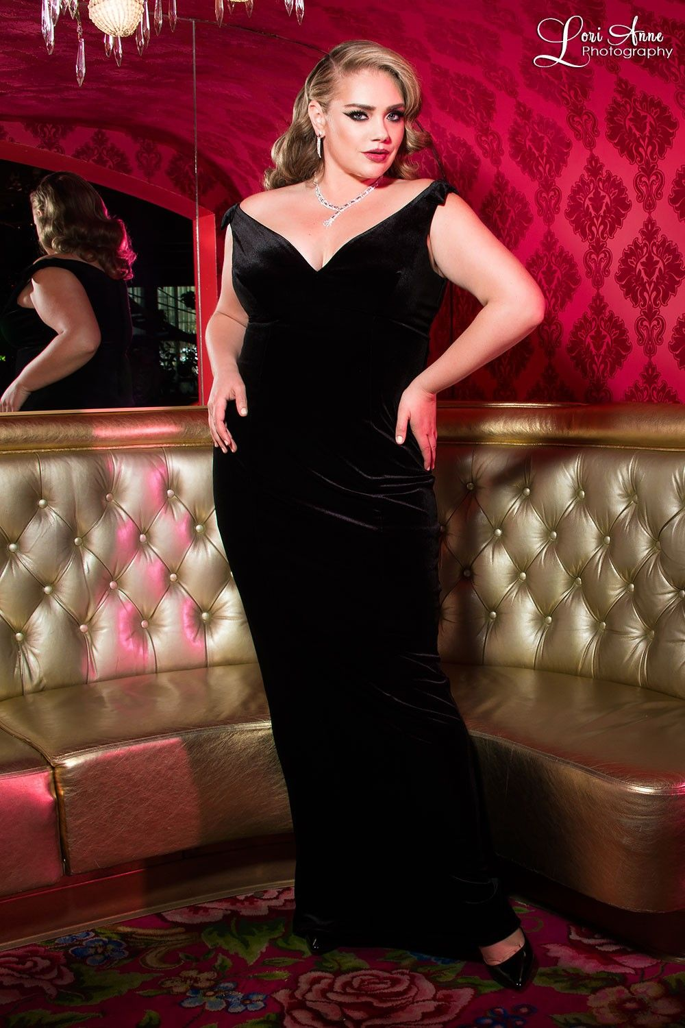 The Laura Byrnes Gilda Gown in Black Velvet - Plus Size | wearable ...