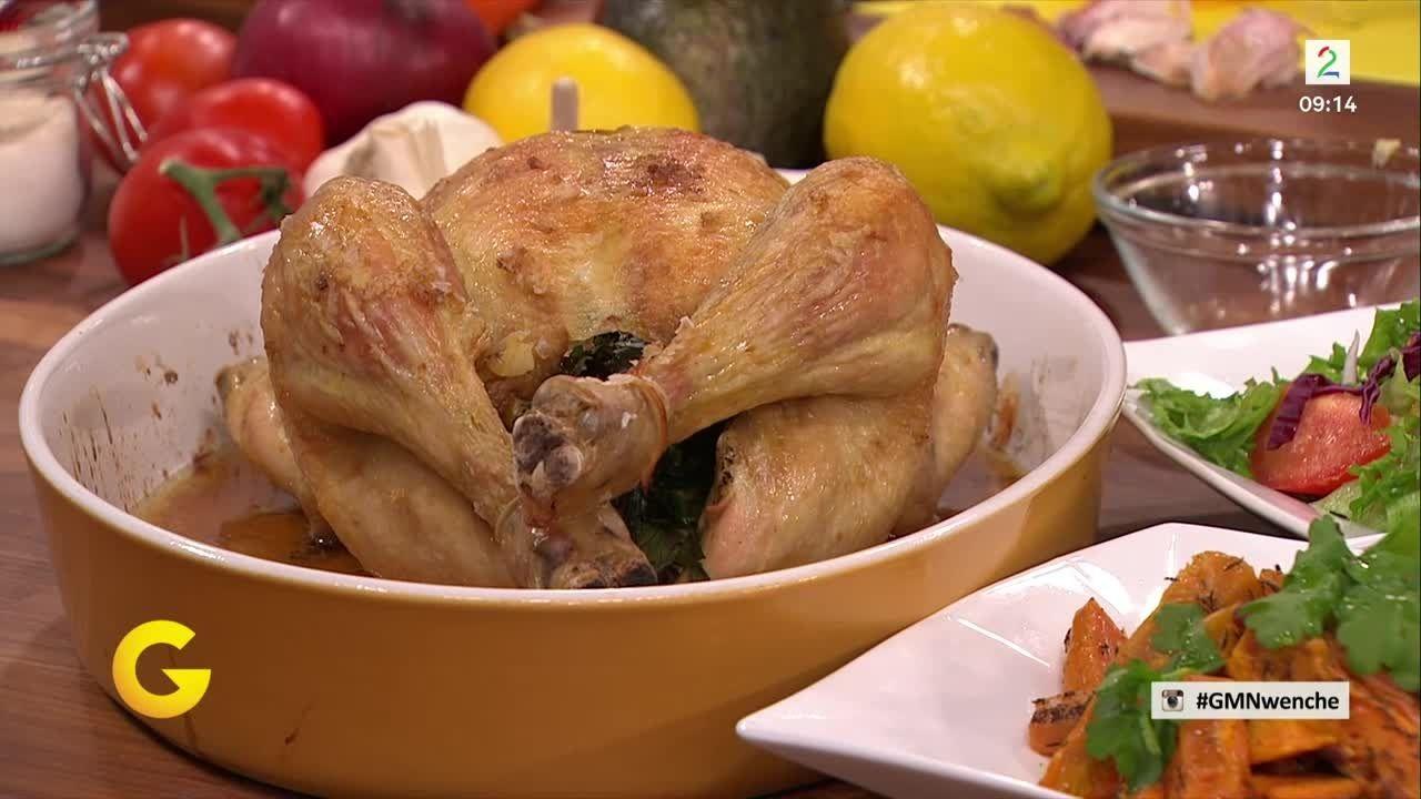 Helstekt kylling med hvitløk og urter - TV2.no