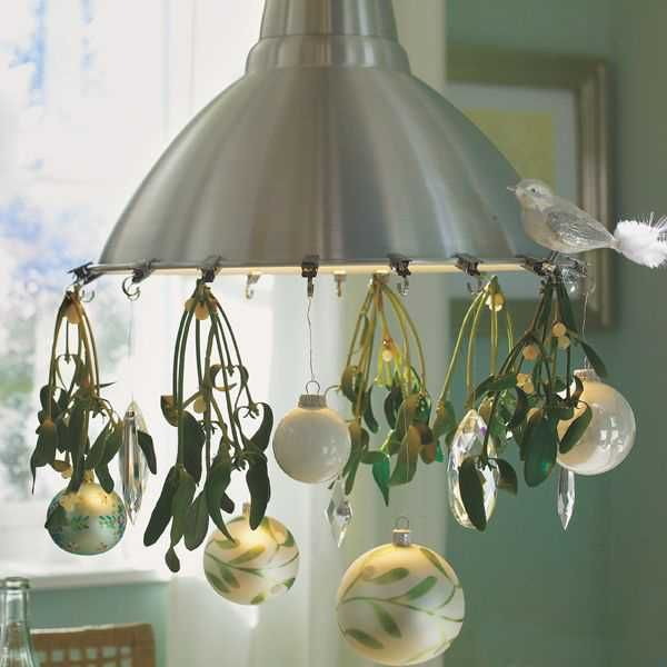 15 Christmas Decorating Ideas For Pendant Lights And Chandeliers