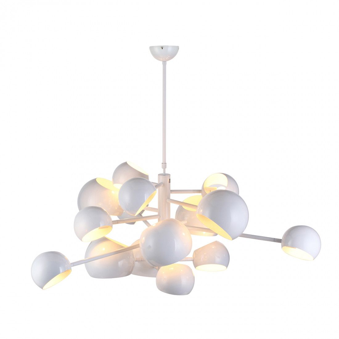Kobra burst chandelier white chandeliers modern and kitchens kobra burst chandelier white arubaitofo Image collections