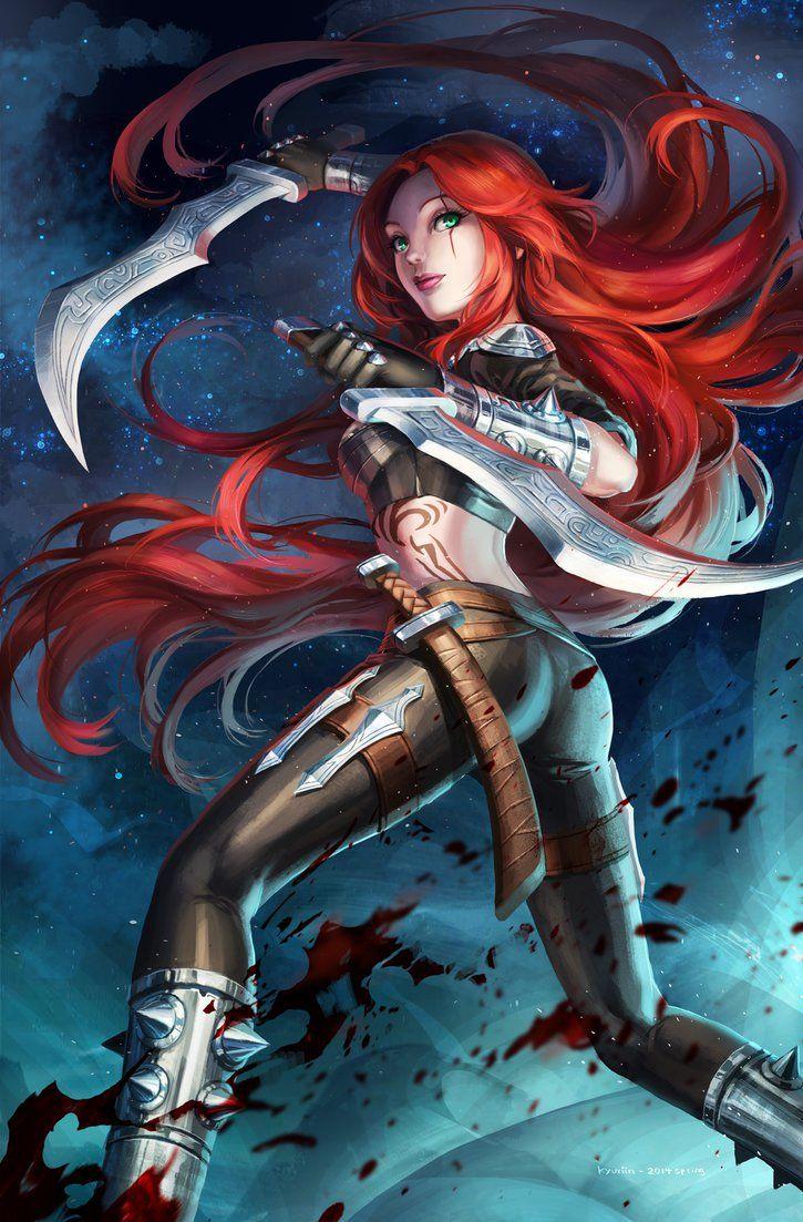 Katarina By Kyuriin On Deviantart League Of Legends League Of Legends Characters Lol League Of Legends
