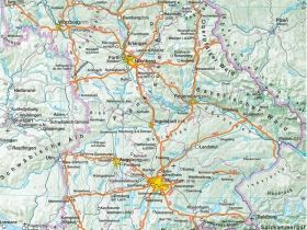 Topographic map of Bavaria, Where is Bavaria | Munich*4 Nights & Fly ...